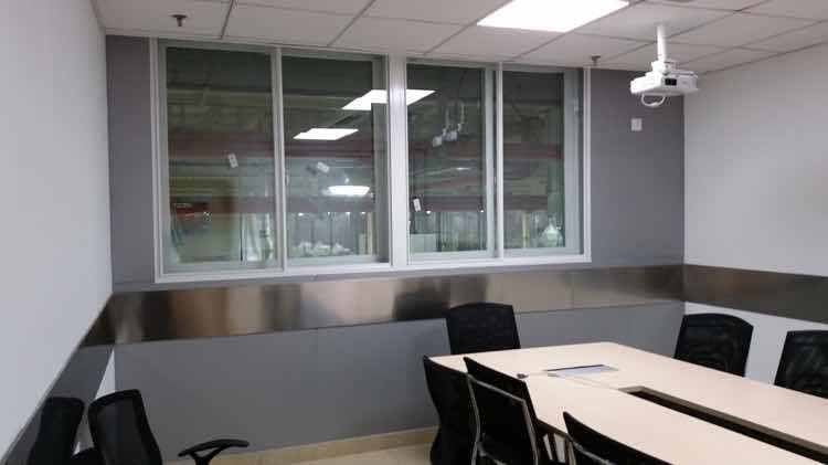 办公室隔声窗户安装后噪音比测试结果
