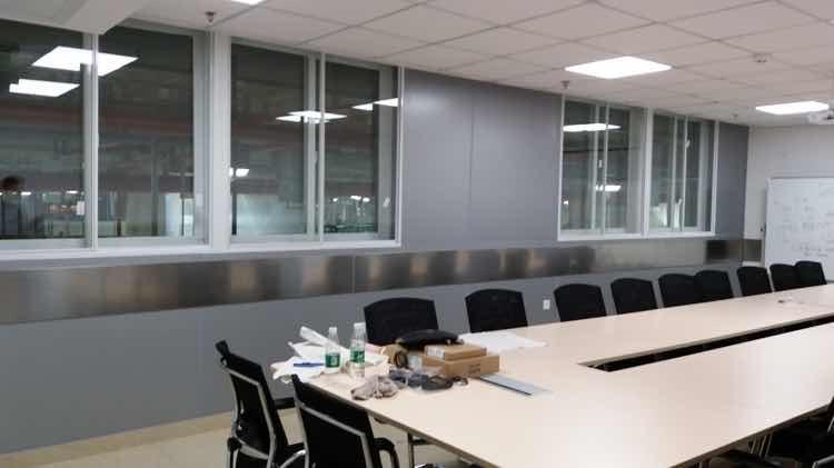 办公室隔声窗未安装前噪声检测结果展示